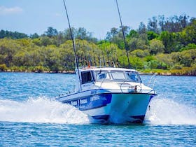 Yamba Fishing and Charters vessel, 3100 Noosa Cat with twin 250 Yamaha motors