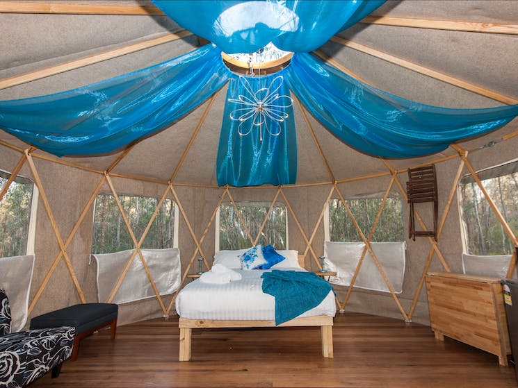 luxury glamping on the Murray River
