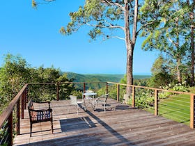 Stunning mountain views from the back of the property