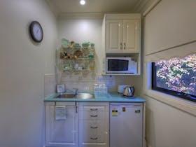 Garden View apartment kitchenette