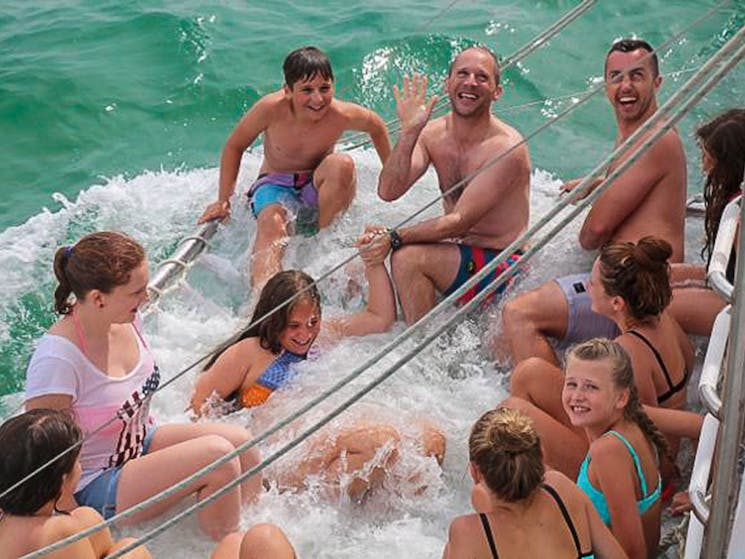 Bring your swimmers and enjoy a ride in the boom net!
