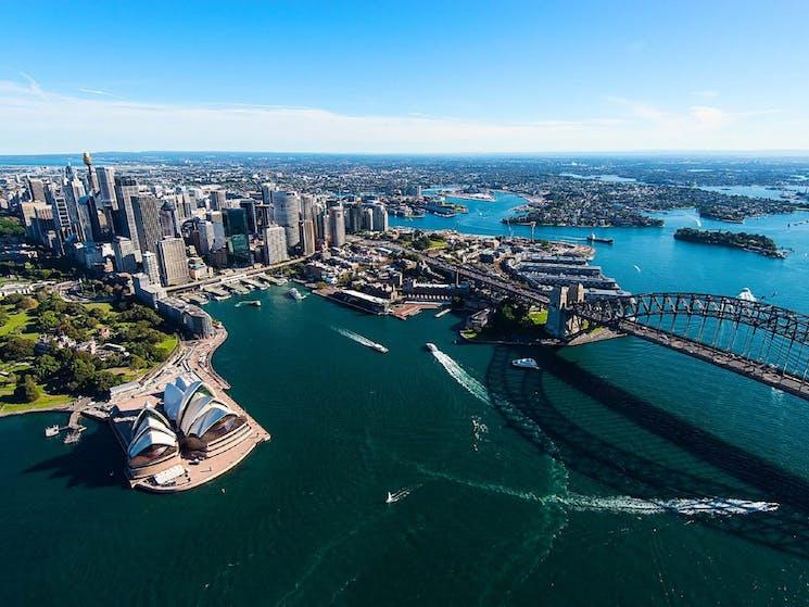 Sydney Scenic over the iconic Harbour Bridge and Opera House