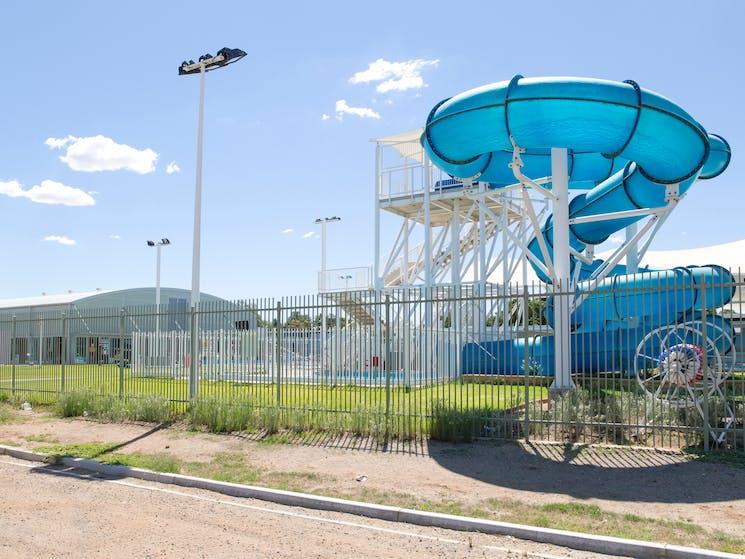Broken Hill Swimming Pool and Slide - James Farley