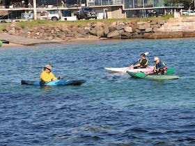 sit in and sit on kayaks for hire
