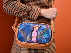 Aussie Bird Bag Painting