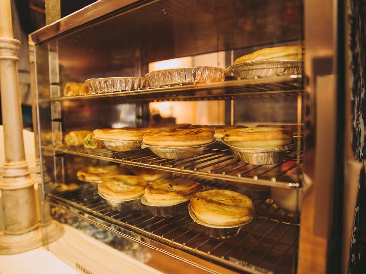Locally made pies from Binalong at Pantry on Pudman
