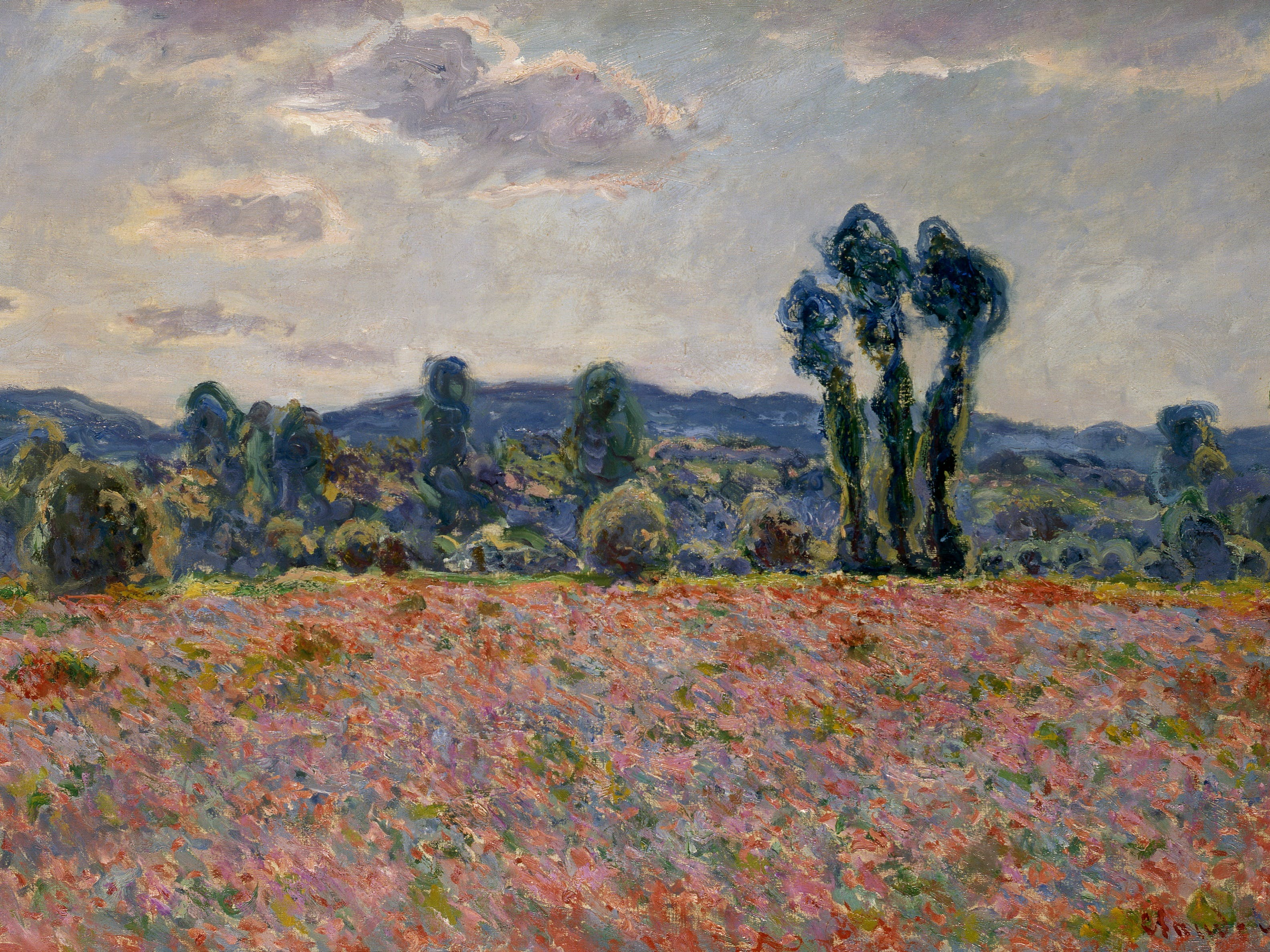 Claude Monet 'Poppy fields' c1890