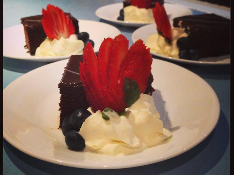 Dessert choice chocolate mud cake