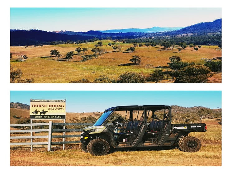 Explore Swamp Oak Station Tours on our six seater CAN-AM Buggy