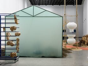 Isadora Vaughan's installation 'Ogives' includes sculptures, natural materials and more.