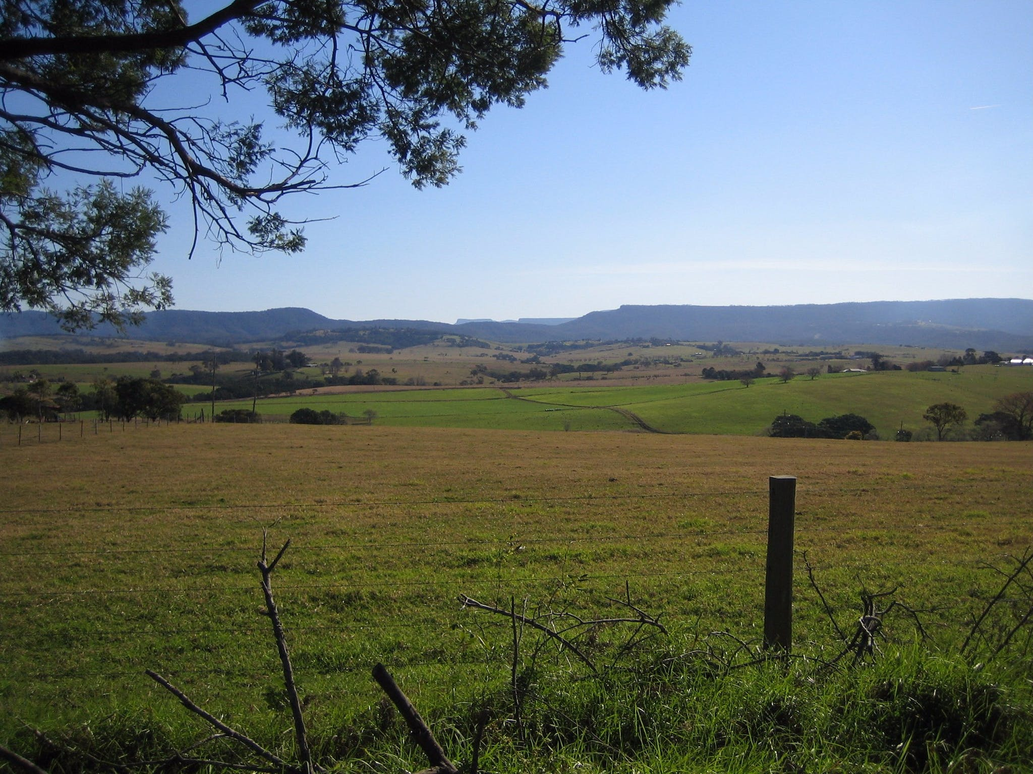 The Budawang Ranges forms a stunning backdrop to the Milton Village Showground Markets.