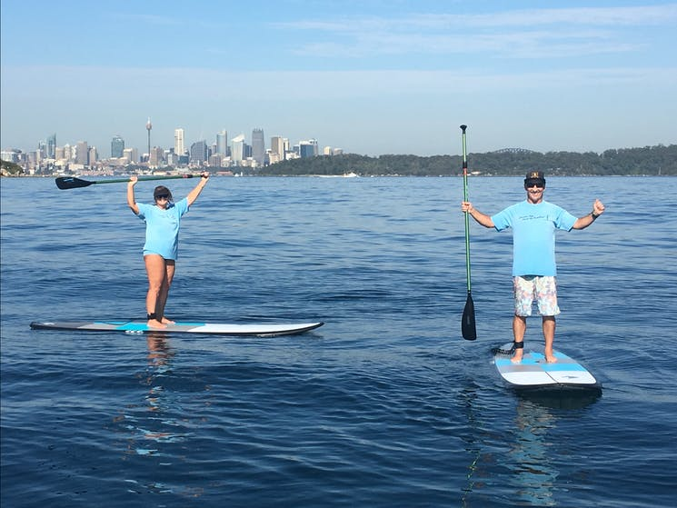 SUP, Stand Up Paddling, Sydney harbour