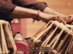 Ravi on Indian drums at the Ananda Mela January 2019