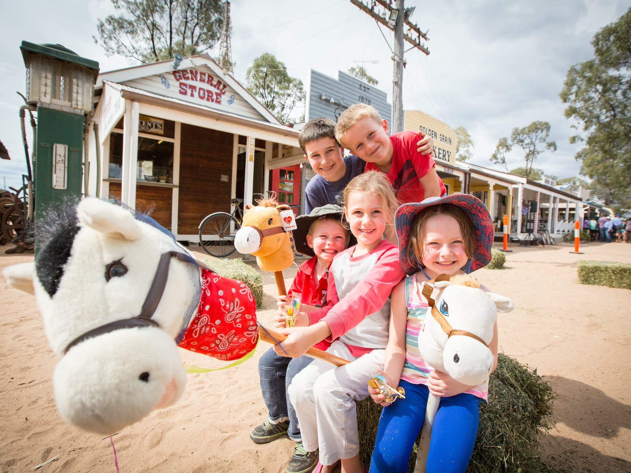 Family fun at events within the Miles Historical Village