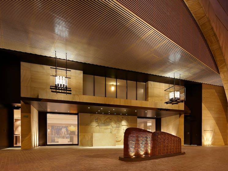Main entrance sandstone driveway of Park Hyatt Sydney hotel