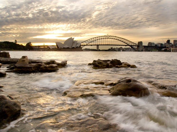 Foreshore water as you look towards Opera House