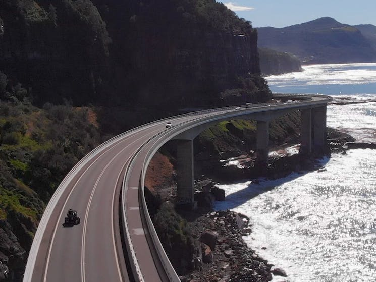 Sea Cliff Bridge - Just Cruisin' Motorcycle Tours Wollongong