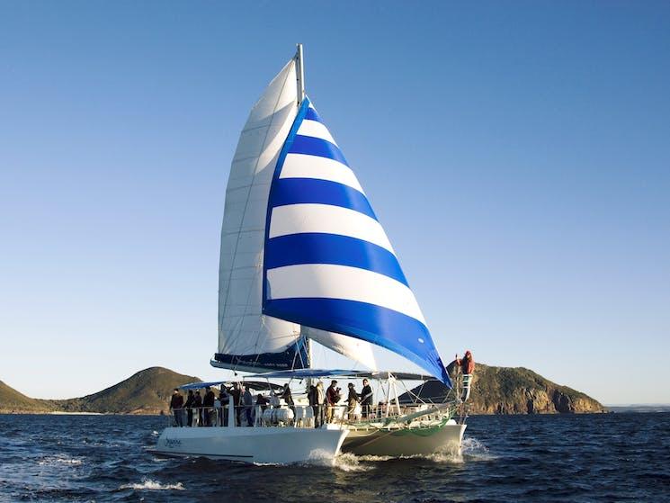 Imagine is a 54ft sailing catamaran
