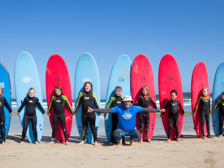 Surf lessons for kids NSW South coast