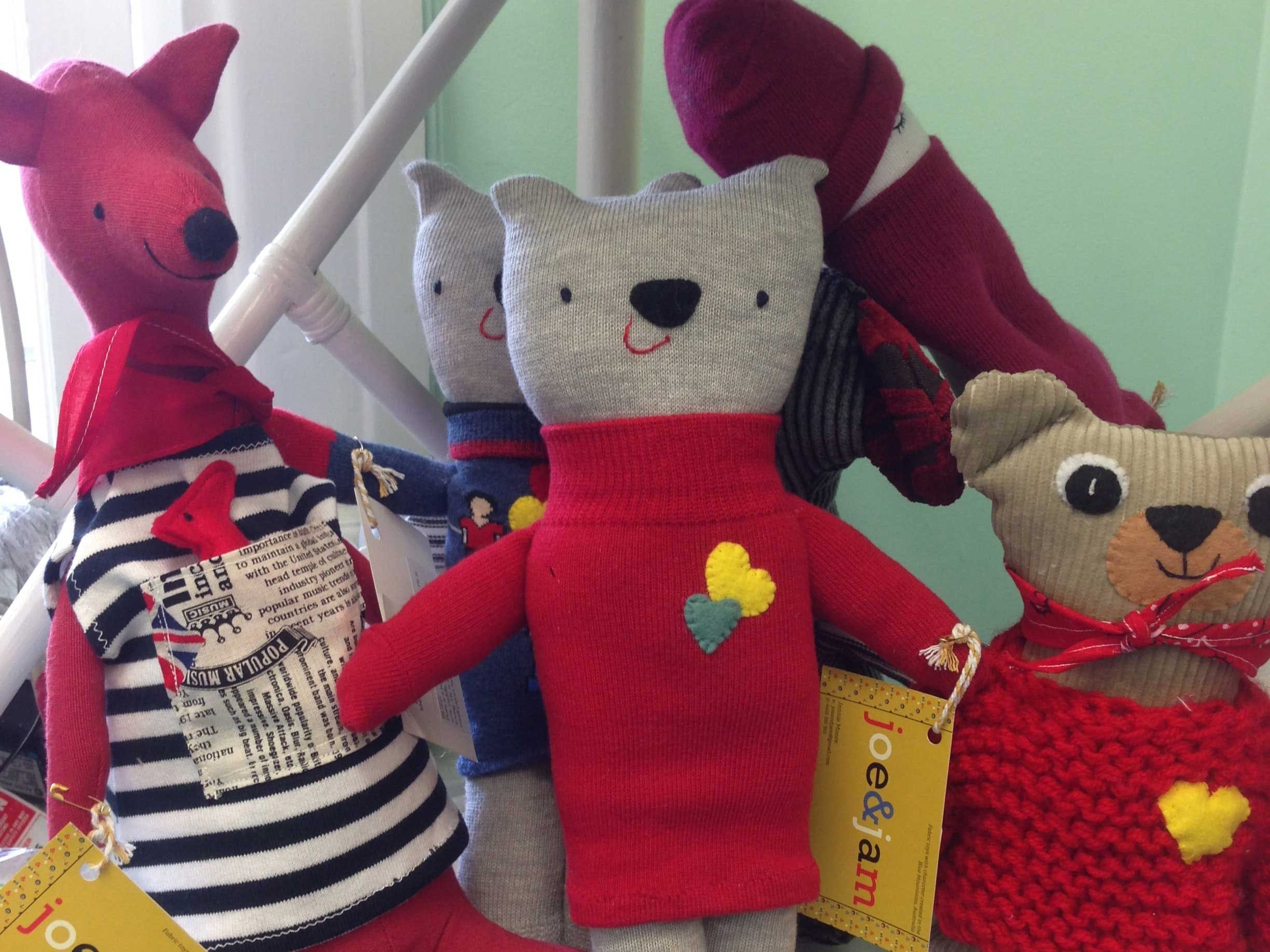 All ages catered for! Handmade toys by Joe and Jam