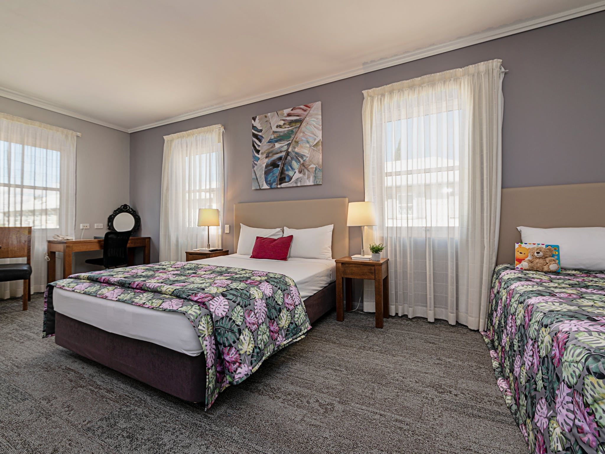 Families are well catered for with a variety of room configurations