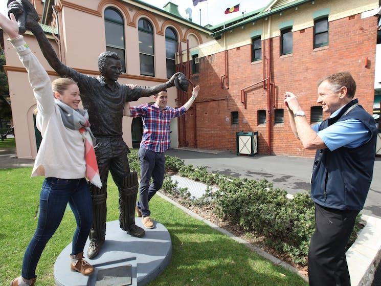 SCG Guided Walking Tour Bronze Statue Waugh