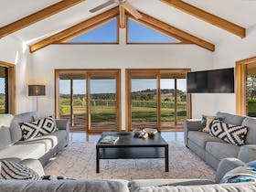 Lodge Room overlooking the vineyard at Simon Tolley Lodge