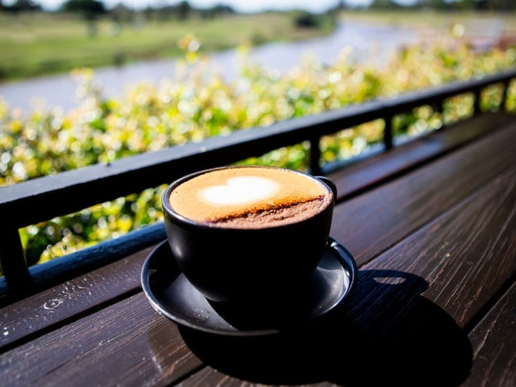Coffee at Orange Tree Cafe at The Levee