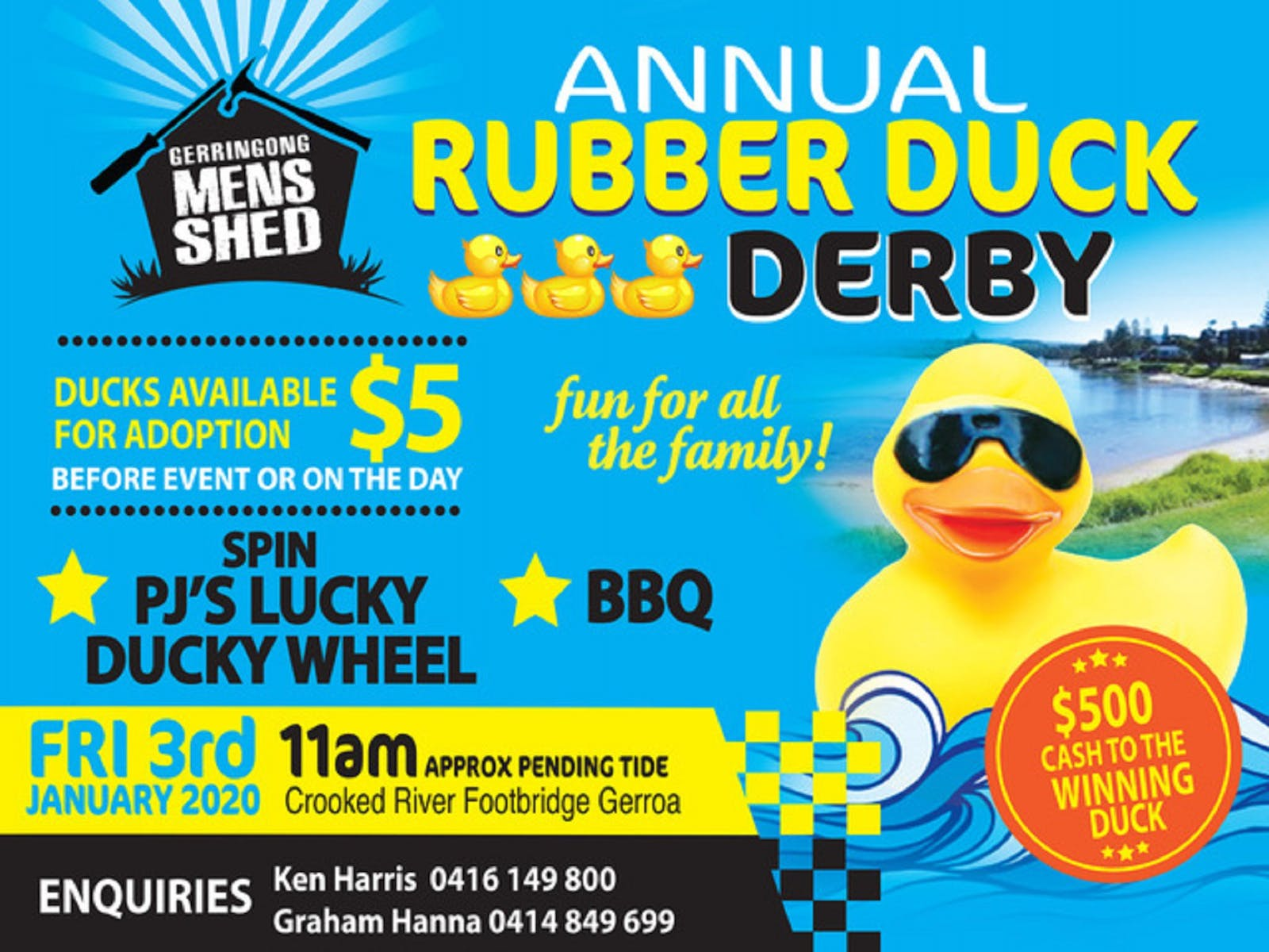 Image for Gerringong Men's Shed Annual Duck Derby