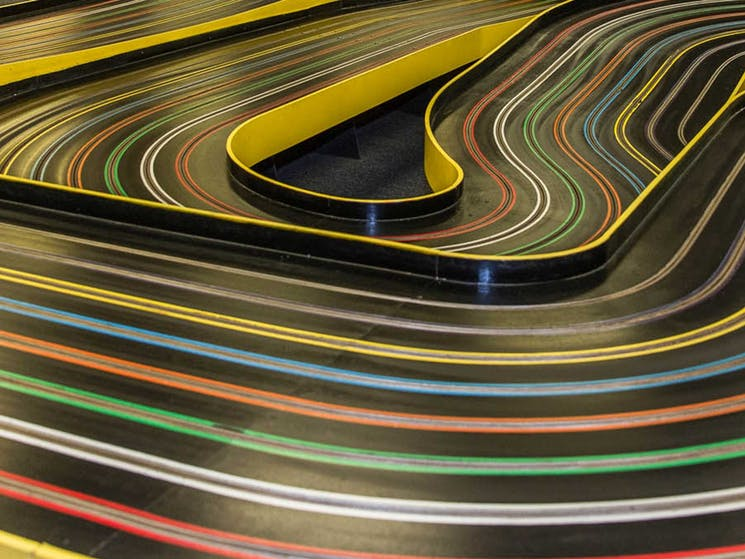 Image of a slot car Track