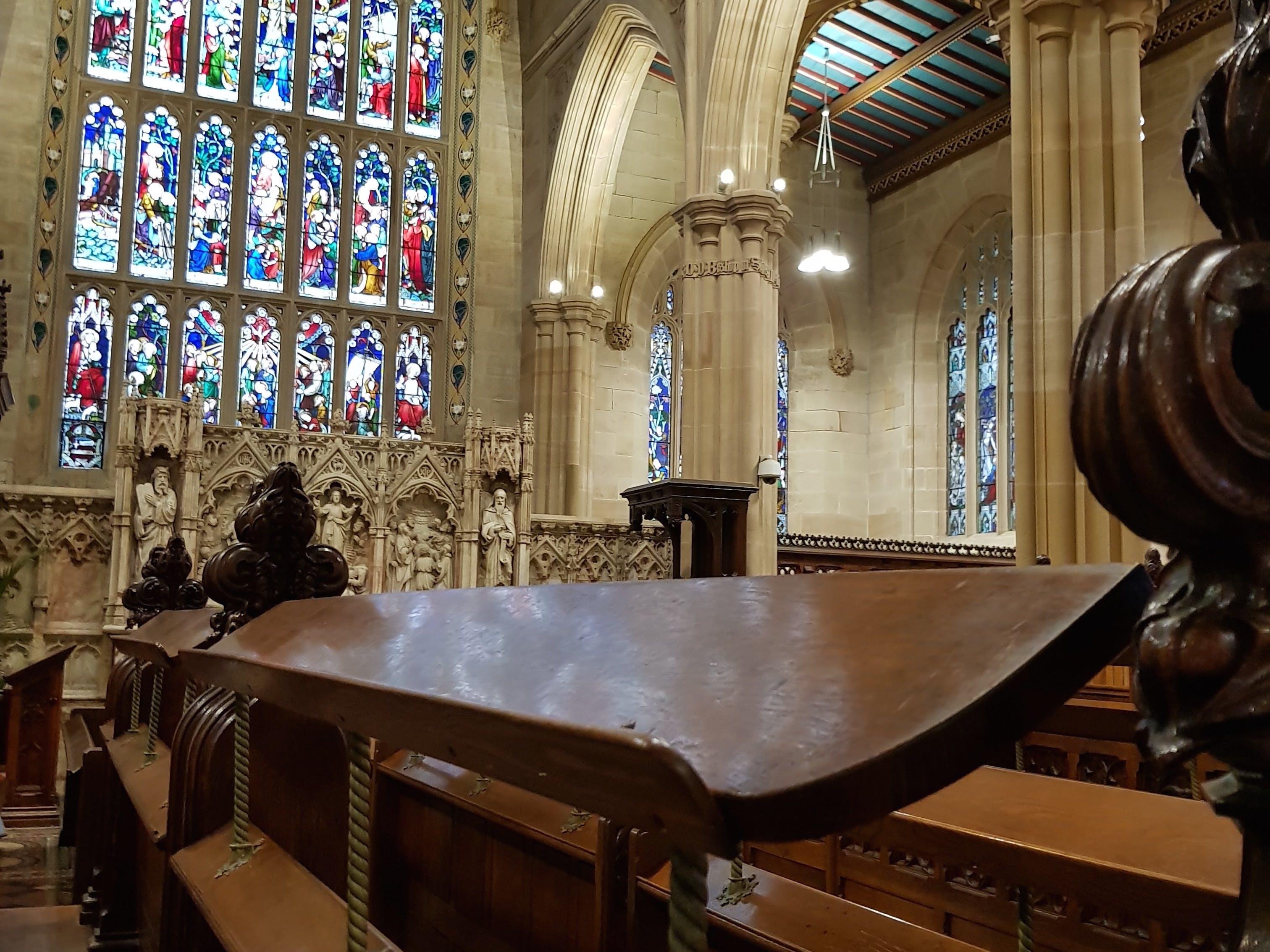 The view from the choir stalls at St Andrew's Cathedral