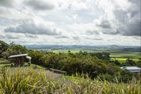 View over rolling hills of Atherton Tableland from Hallorans Hill