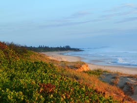 Northern aspect up to Flat Rock. Dump Beach, Yamba.