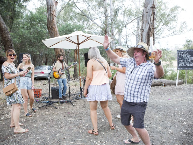 Keep an eye out for pop up musicians scattered around the trail. Who said waiting was boring