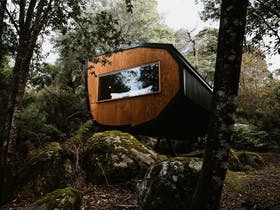 Pods accommodation in Blue Derby Mountain Bike Trails
