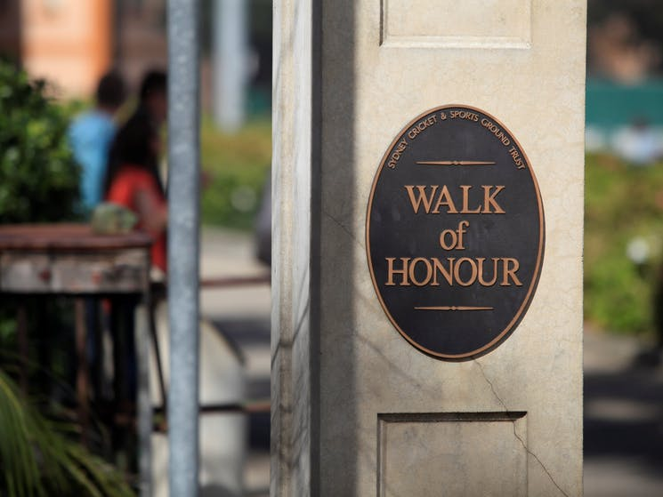 SCG Guided Walking Tour Walk of Honour at Sydney Cricket Ground