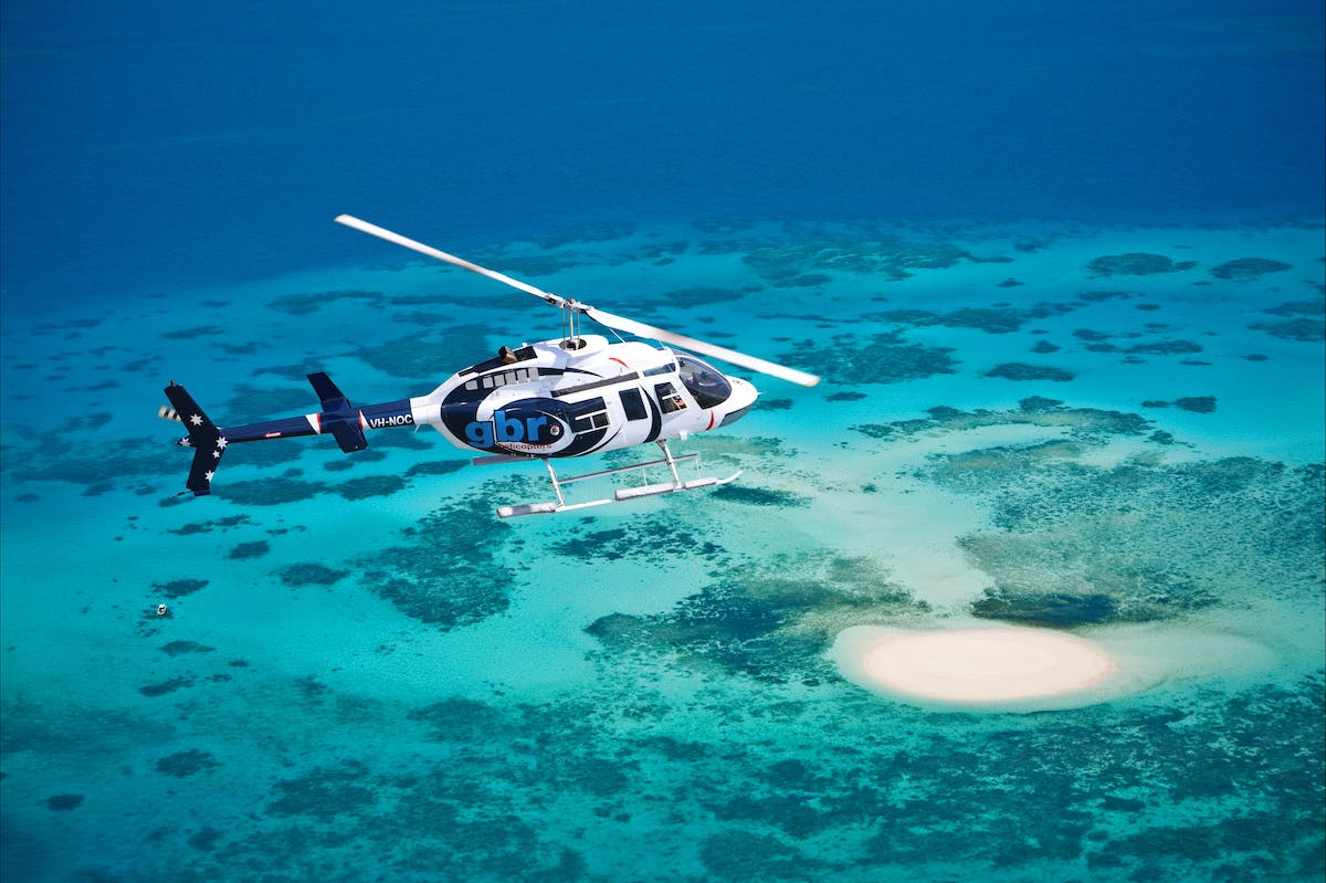 GBR Helicopters sandy cay escape