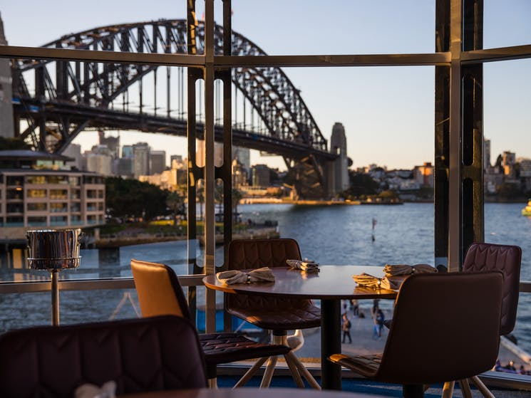 Dining room view to Sydney Harbour Bridge