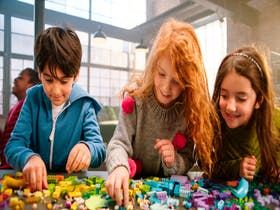 Build a giant heart with Lego Friends