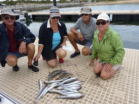 Group with their catch