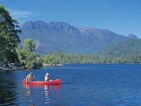Rosebery - Canoeing on Lake Rosebery