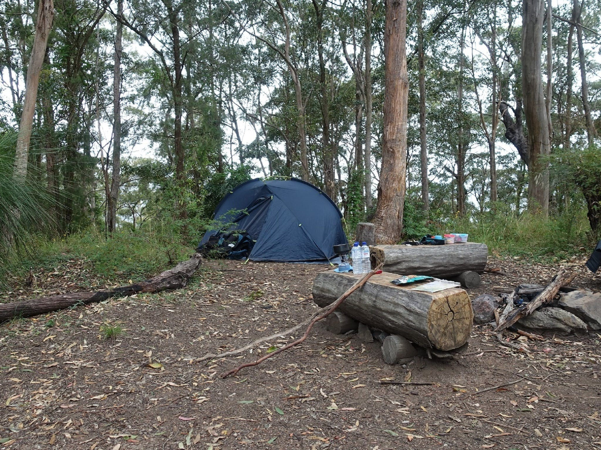 A campfire area in the Northbrook Mountain Bush Camp