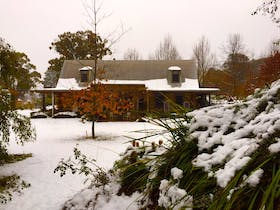 Lodge in snow