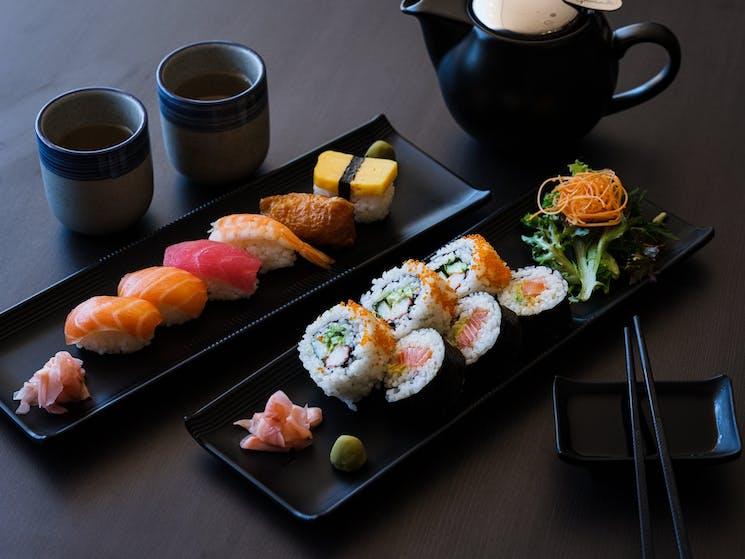 Sushi Roll and Sushi Nigiri Platter
