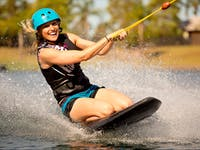 Kneeboarding at the Cairns Wake Park for beginners to advanced.