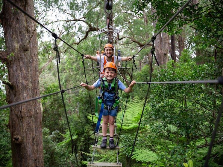 Zipline Tour suspension bridge