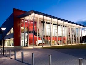 Shoalhaven Entertainment Centre at dusk