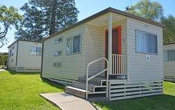 Budget cabin at the Colour City Caravan park