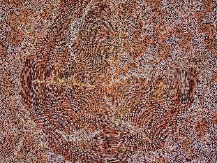 Detail:  Ancestors by Sarrita King 150 x 150cm