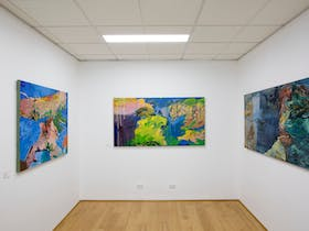 Exhibition view of works by leading artist Michael Taylor